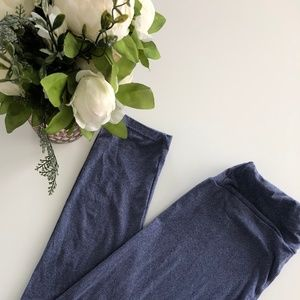 LuLaRoe leggings O/S Solid Gray/Purple - Brand New